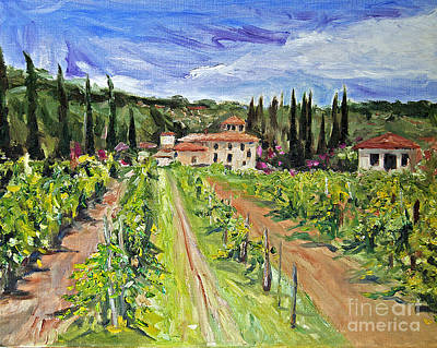 Winery Painting - Tuscany Afternoon by Jennifer Beaudet