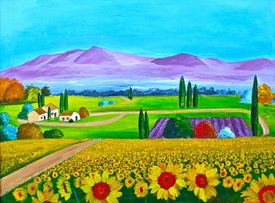 Painting - Tuscany by Artistic Indian Nurse
