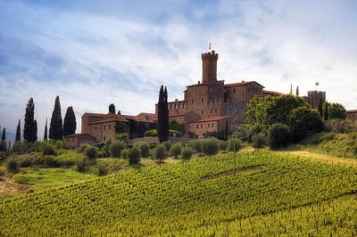 Vineyard Photograph - Tuscany- Castello Di Poggio Alla Mura by Joana Kruse