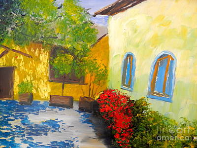 Tuscany Courtyard 2 Art Print by Pamela  Meredith