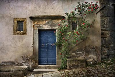 Photograph - Nella's Blue Door 2 by Al Hurley