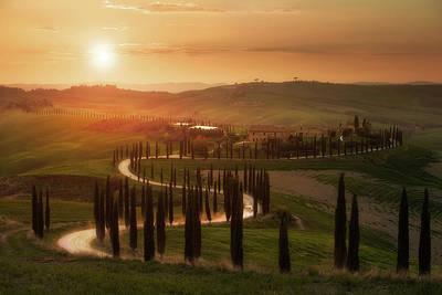 Tuscany Italy Photograph - Tuscany Evening by Rostovskiy Anton