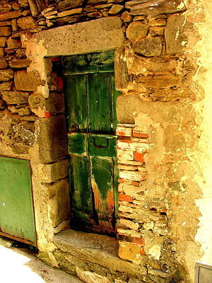 Photograph - Tuscany Green Door by Jacqueline M Lewis