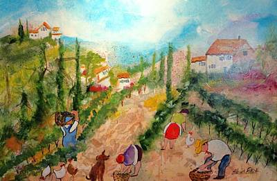 Painting - Tuscany Harvest  by Elaine Elliott