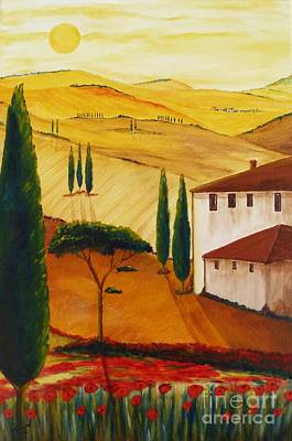 Tuscan Hills Painting - Tuscany-idyll 3 by Christine Huwer