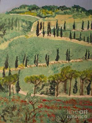 Tuscany Landscape Art Print by Ann Fellows