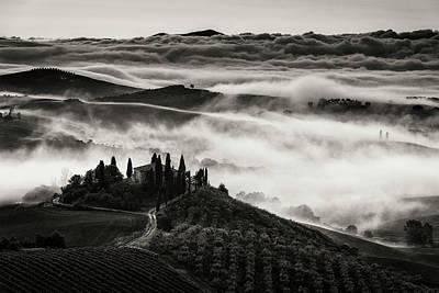 Foggy Road Photograph - Tuscany by Nina Pauli