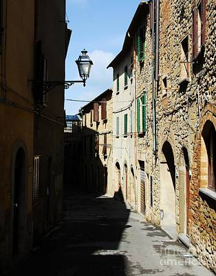 Stone Buildings Photograph - Tuscany Shadows by Mel Steinhauer
