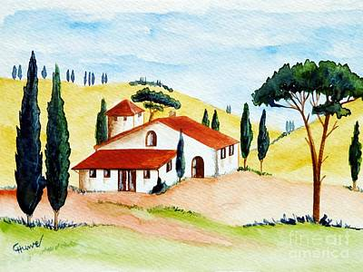 Toscana Painting - Tuscany-spring by Christine Huwer