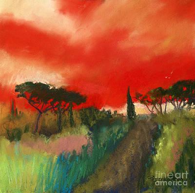 Pastel - Tuscany Trails by Robin Maria Pedrero