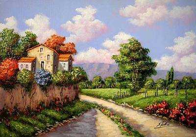 Tuscan Hills Painting - Tuscany Ts1 by Salvatore Telese