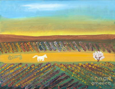 Painting - Tuscany Vineyards 2 by Richard W Linford
