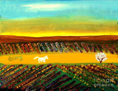 Painting - Tuscany Vineyards 3 by Richard W Linford