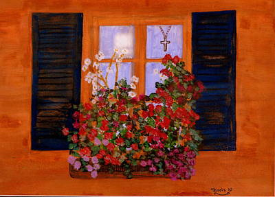 Tuscany Window Box Art Print