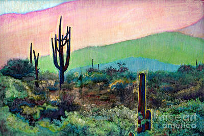 Painting - Tuscon Saguaro 1 by Cindy McIntyre
