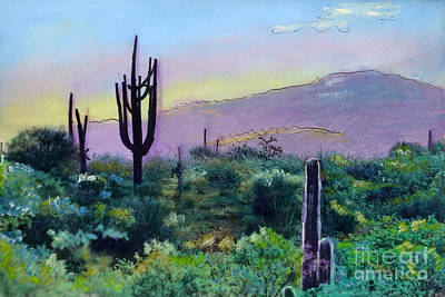 Painting - Tuscon Saguaro V2 by Cindy McIntyre