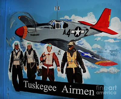 P-51 Mustang Photograph - Tuskegee Airmen by Leon Hollins III
