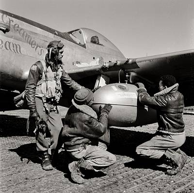 Photograph - Tuskegee Preflight by Benjamin Yeager