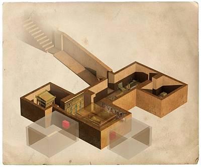 Tutankhamun's Tomb Print by Claus Lunau