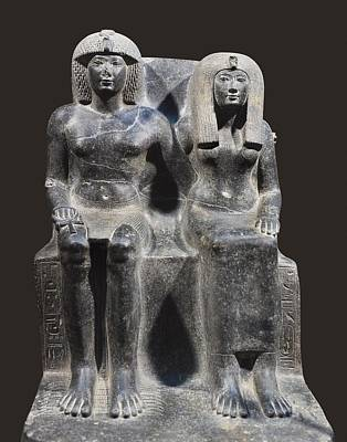 Statue Portrait Photograph - Tuthmosis Iv And His Mother Tiy. 1401 by Everett