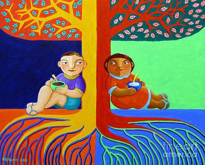 Philippine Art Painting - Tutong Tree by Paul Hilario
