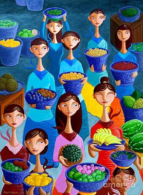 Woman Painting - Tutti Frutti by Paul Hilario