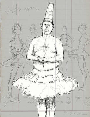 Dunce Cap Digital Art - Tutu Man by H James Hoff