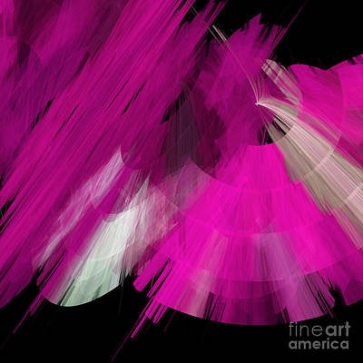 Digital Art - Tutu Stage Left Abstract Fuchsia by Andee Design