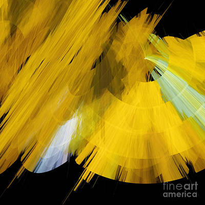 Tutu Stage Left Abstract Yellow Art Print by Andee Design