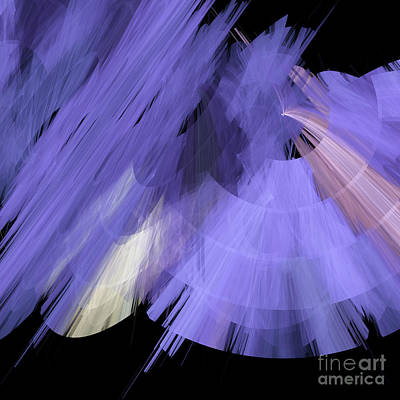 Digital Art - Tutu Stage Left Periwinkle Abstract by Andee Design