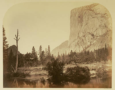 Yosemite National Park Drawing - Tutucanula - El Capitan 3600 Ft. Yo Semite Carleton Watkins by Litz Collection