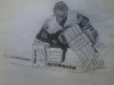 Boston Bruins Drawing - Tuukka Rask by Nikayla Abruzzese