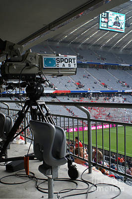 Photograph - Tv Camera In The Munich Soccer Arena by Rudi Prott