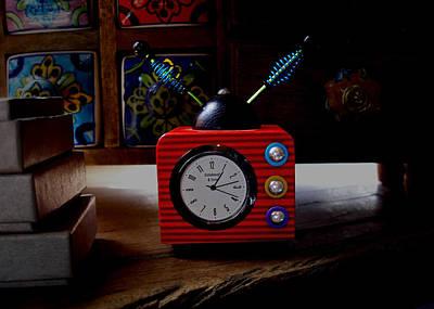 Photograph - Tv Clock by David Pantuso