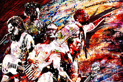Malone Painting - Tv On The Radio Art Piece by Ryan Rock Artist