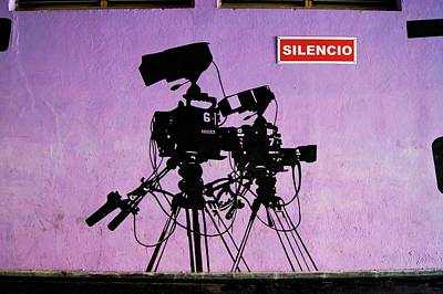 Mural Photograph - Tv Studio Cameras. by Mark Williamson/science Photo Library