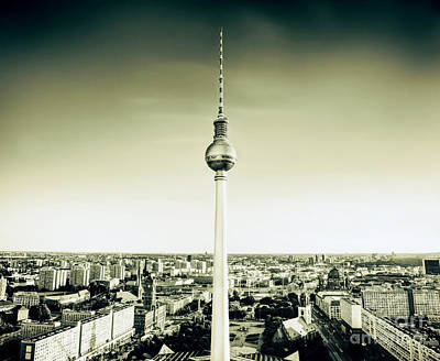 Photograph - Tv Tower Or Fersehturm In Berlin Germany by Michal Bednarek