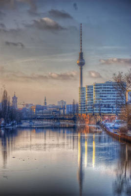 European City Digital Art - Tv Tower Sunset by Nathan Wright