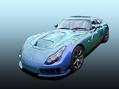 Photograph - Tvr Sagaris Chameleon Green by Gill Billington