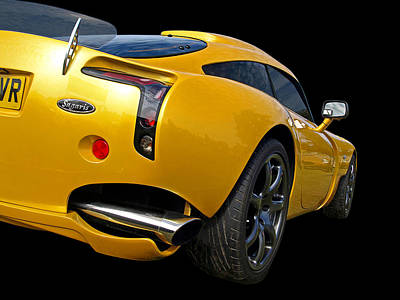 Photograph - Tvr Sagaris On Black by Gill Billington
