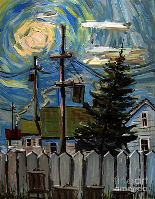 Moonshine Painting - Twas The Night Before by Charlie Spear