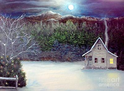 Painting - Twas The Night Before Christmas by Peggy Miller