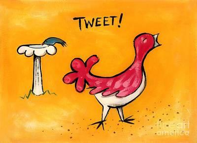 Tweet Art Print by Diane Smith