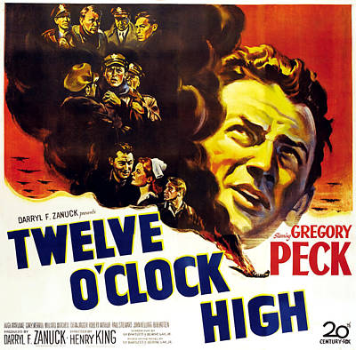 Twelve Oclock High, Right Gregory Peck Art Print by Everett