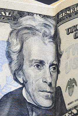 On Paper Photograph - Twenty Dollar Bills by Donald  Erickson