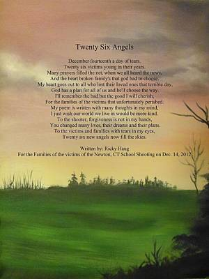 Newton Painting - Twenty Six Angels by Ricky Haug