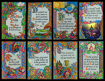 Twenty Third Psalm Collage 2 Art Print by Tikvah's Hope