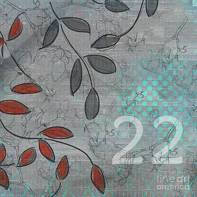 Red Leaf Digital Art - Twenty-two - 20b by Variance Collections