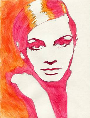Twiggy Pop Art Painting - Twiggy by Martha Cervantes