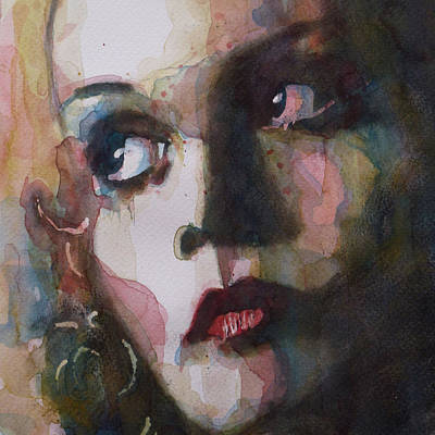 Woman Painting - Twiggy Where Do You Go My Lovely by Paul Lovering